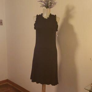 Derek Heart black ruffled t-shirt dress.  Size Lrg